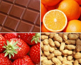аллергия у ребенка на шоколад, орехи, фрукты