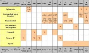 Календарь вакцинации детей в РФ