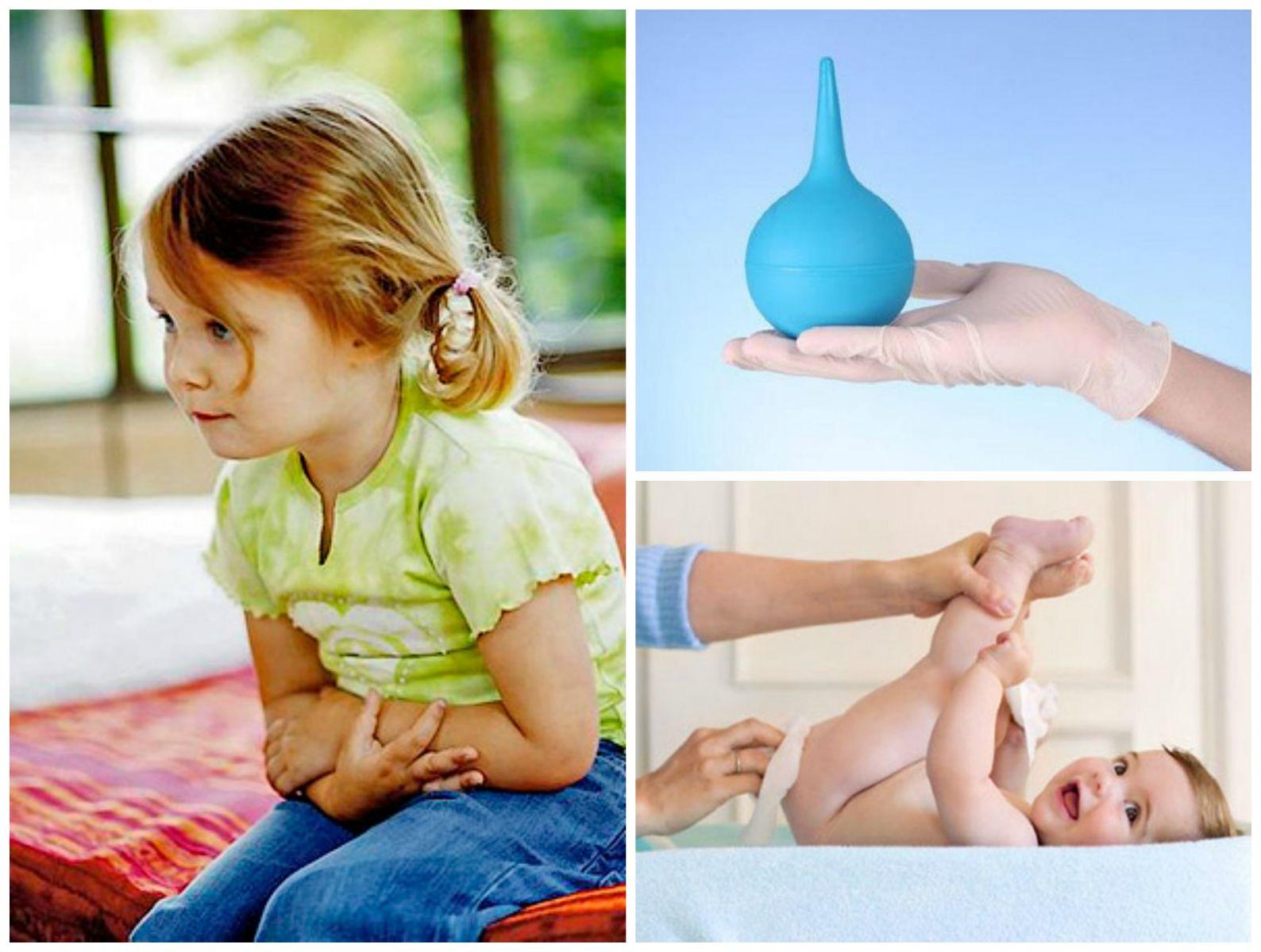Как сделать клизму месячному ребёнку