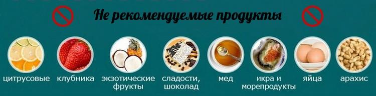Не рекомендуемые продукты для кормящей матери